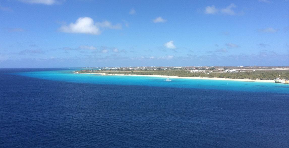 Blue ocean waters.