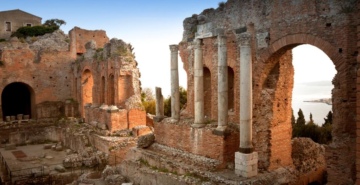 Historic ruins in Messina, Sicily.