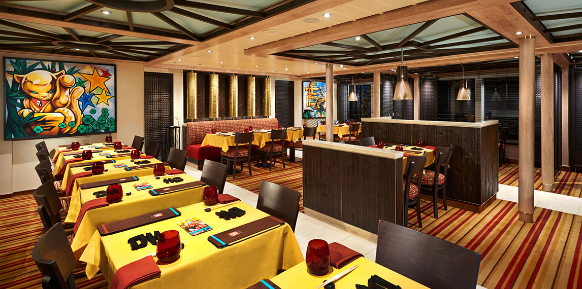 Modern interior design of JIJI Asian Kitchen.