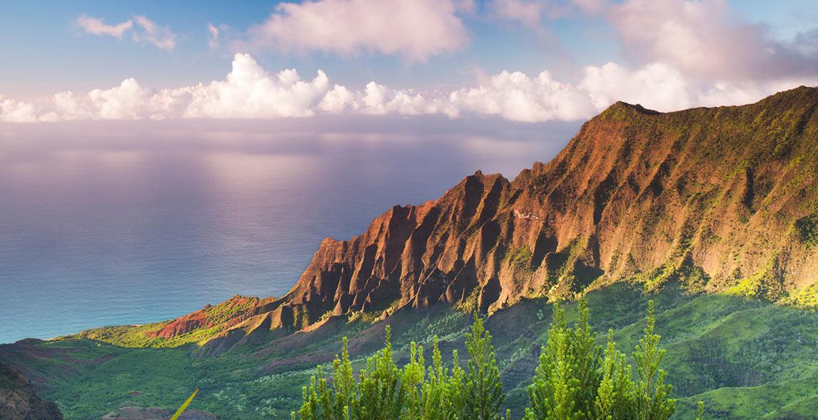 Mountain view in Kauai, Hawaii.