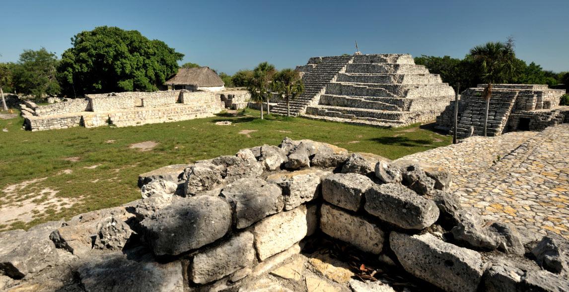 Mayan Ruins at Xcambo, Mexico.