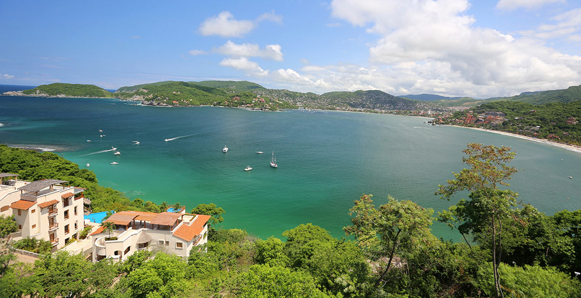The beaches of Zihuatanejo, Mexico.