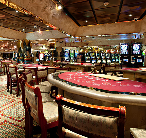 Camel club casino interior on Carnival Glory.