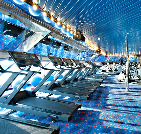 Gym interior on Carnival Glory.