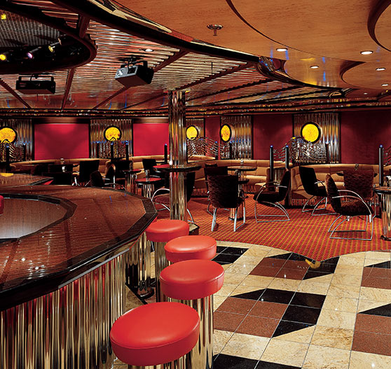 Lounge interior on Carnival Legend.
