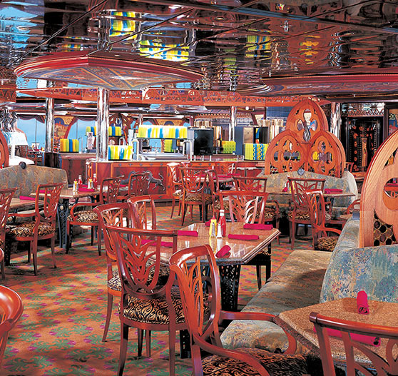 Dining interior on Carnival Legend.