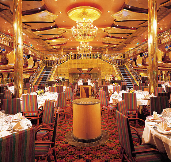 Dining room interior on Carnival Liberty.