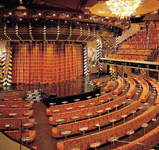 Theater interior on Carnival Liberty.