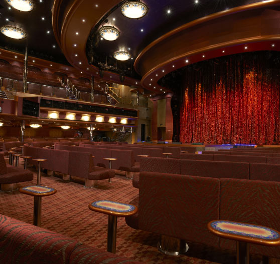 Showtime lounge interior on Carnival Magic.