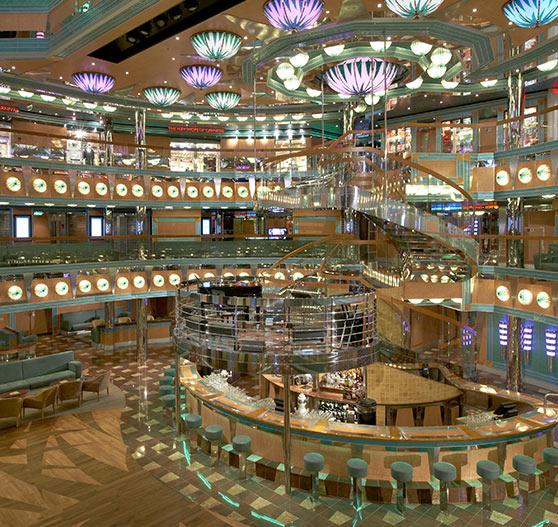 Atrium interior on Carnival Magic.