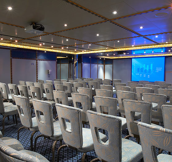 Large conference room interior on Carnival Magic.