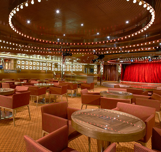 Spotlight lounge interior on Carnival Magic.