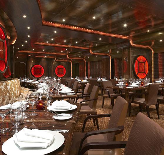 Steakhouse restaurant interior on Carnival Magic.