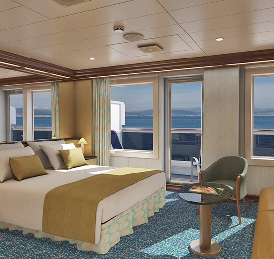 Cloud 9 suite stateroom interior on Carnival Magic.