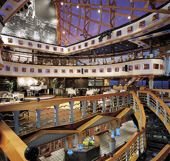 Atrium interior on carnival miracle.