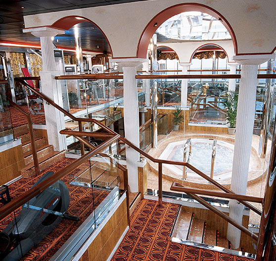 Spa interior on carnival miracle.