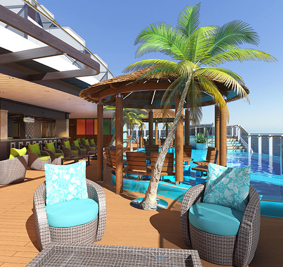 Havana seating render on Carnival Panorama.