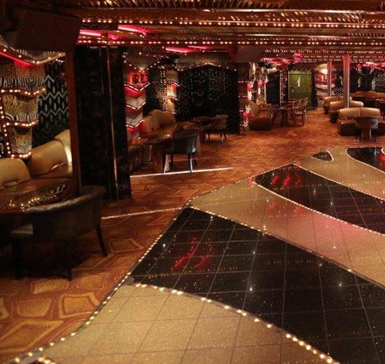 Rex dance club interior Carnival paradise.