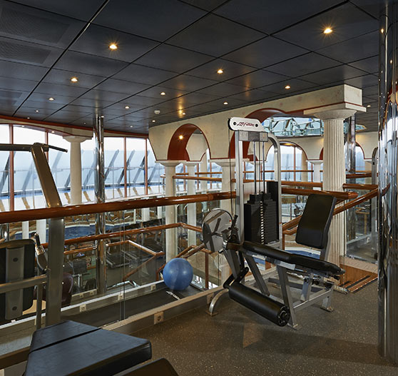 Fitness center on Carnival Pride.