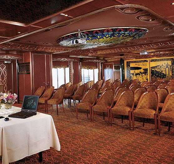Conference room interior on Carnival Spirit.