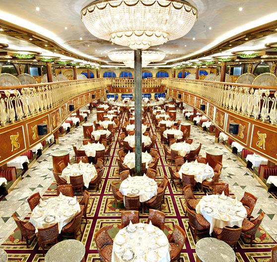 Empire restaurant interior on Carnival Spirit.
