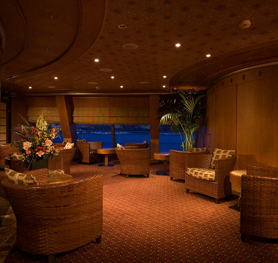 Spa waiting area interior on Carnival Splendor.