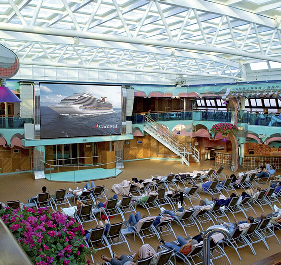 Sea side theatre on Carnival Splendor.