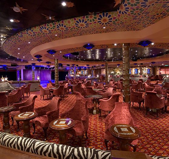 El moroccan aft lounge interior on Carnival Splendor.