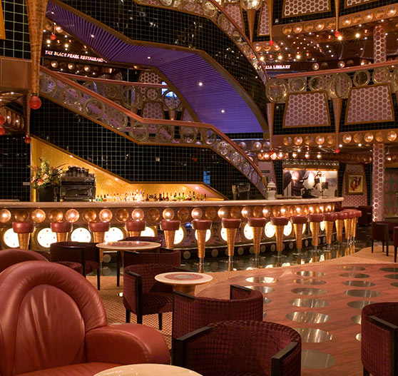 Atrium bar on Carnival Splendor.