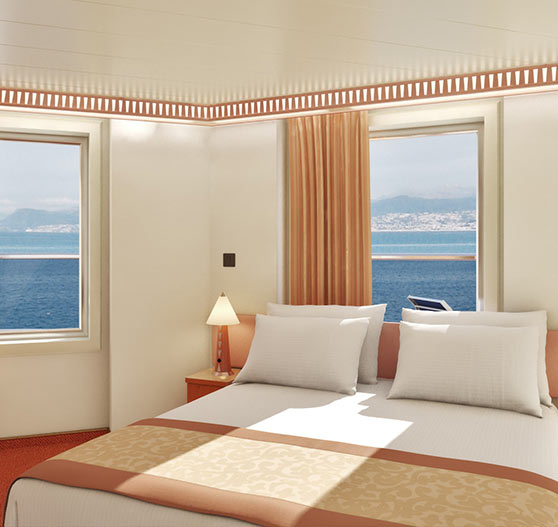 Premium vista balcony stateroom on Carnival Splendor.