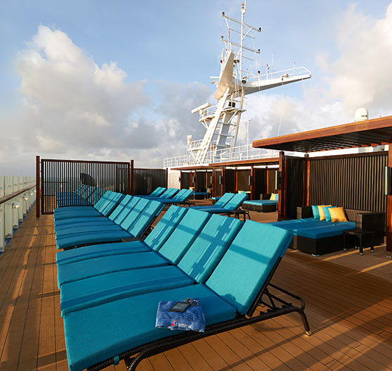 Ocean view from Serenity on Carnival Sunrise.