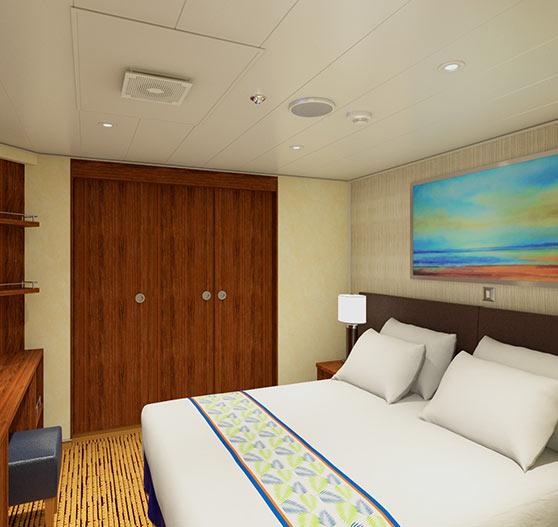 Grand suite stateroom interior on Carnival Sunrise.