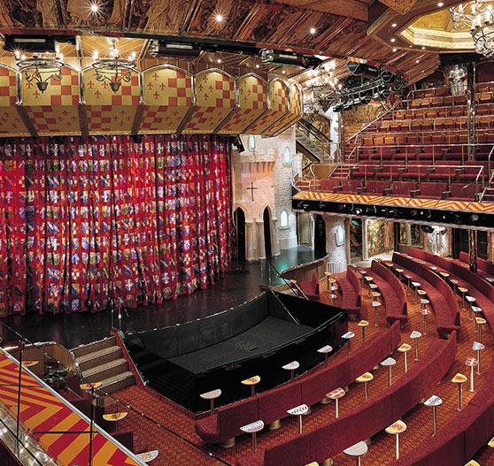 Main showroom upper deck on Carnival Valor.