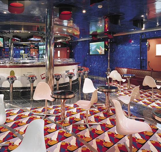 Restaurant interior on Carnival Valor.