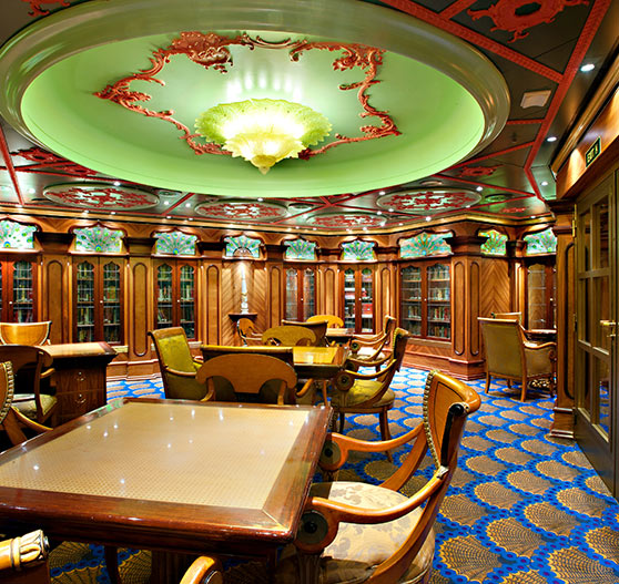 Indian library interior on Carnival victory.