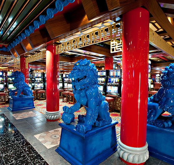 South china sea casino interior on Carnival victory.