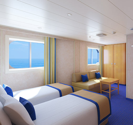 Ocean view stateroom on Carnival victory.