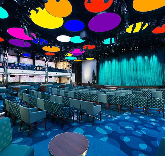 Liquid lounge interior on carnival vista.
