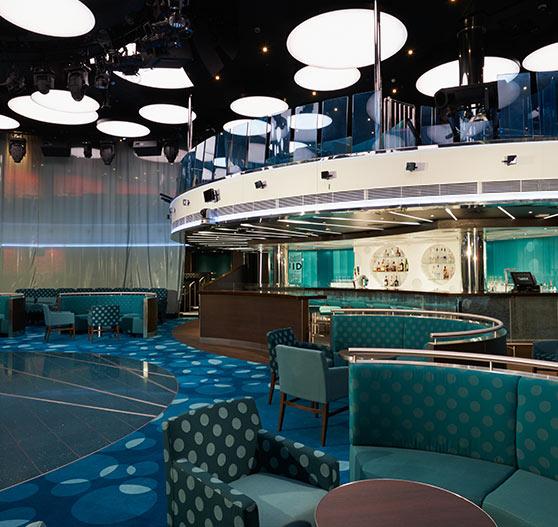 Liquid nightclub interior on carnival vista.