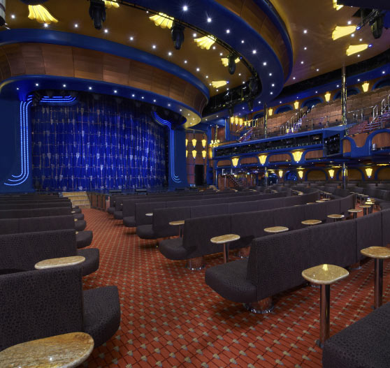 Interior of Ovation theater on Carnival Breeze.