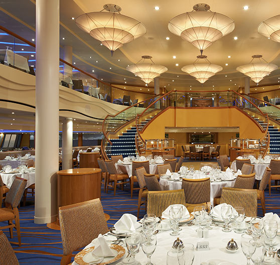 Sapphire dining room on Carnival Breeze.