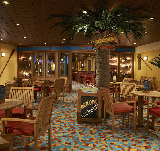 Red Frog pub on Carnival Breeze.