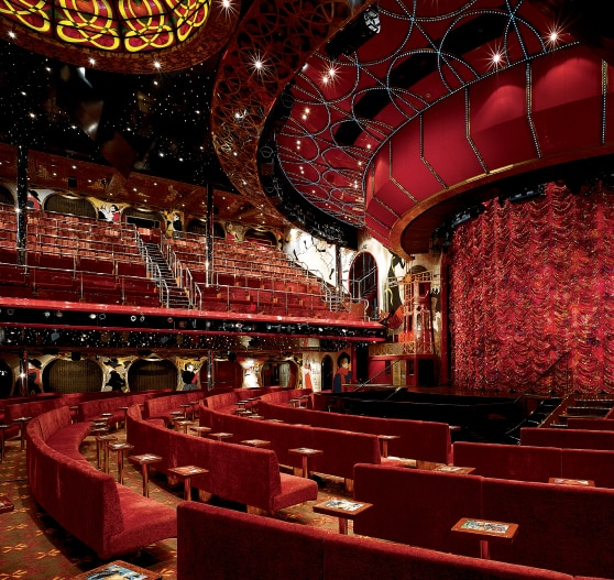 Interior of theater on Carnival Conquest.