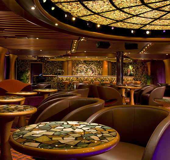 Jazz bar interior on Carnival Dream.