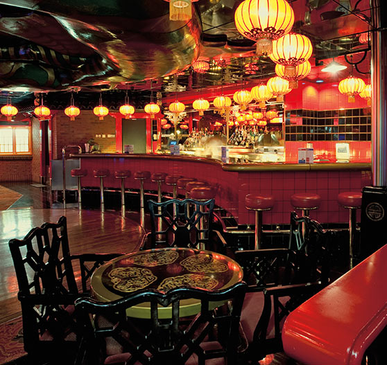 Interior of cafe chinatown on Carnival Ecstasy.