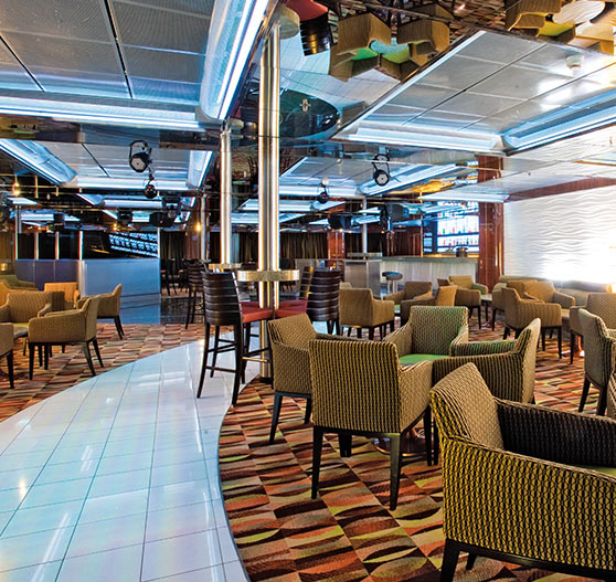 Interior of disco bar on Carnival Ecstasy.