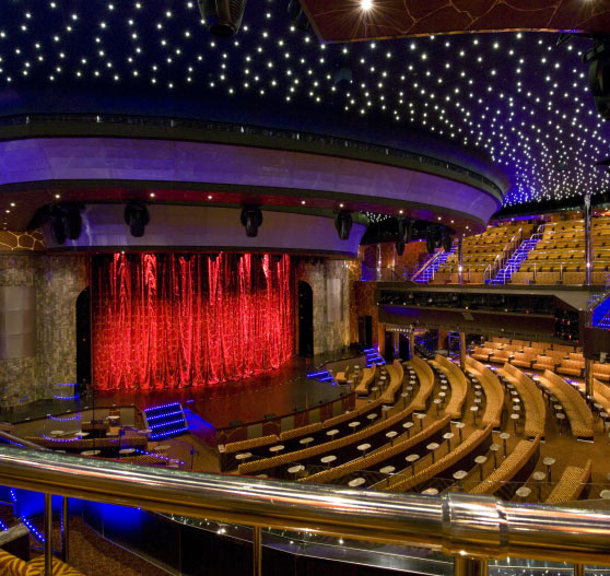 Interior of theater on Carnival Elation.