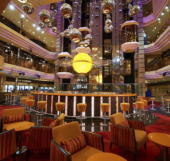 Atrium interior on Carnival Sunshine.